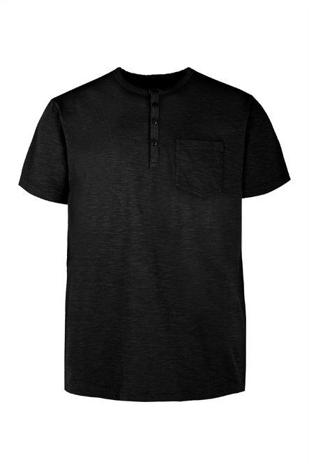 T-shirt con Bottoni e Taschino
