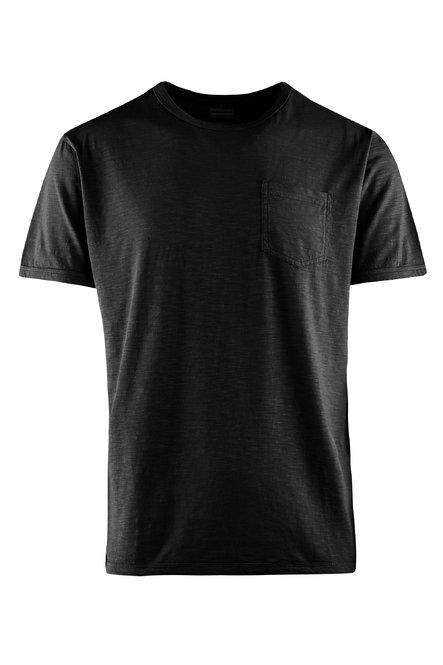 Slub- Baumwoll Jersey T-Shirt mit Brusttasche