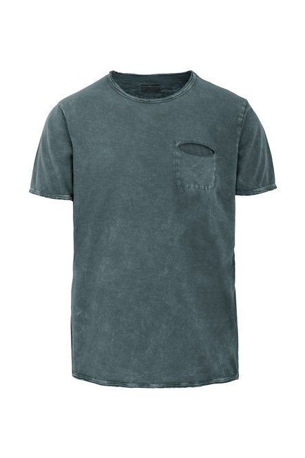 Optic Washed T-shirt with small pocket