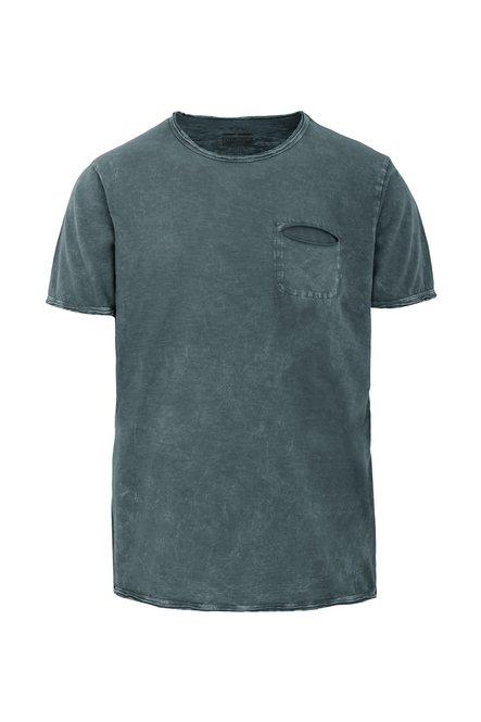 Optic Washed T-Shirt mit Brusttasche