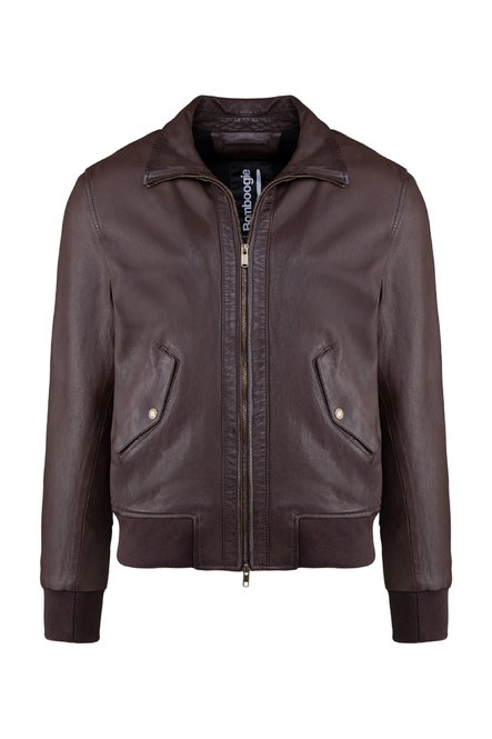 Halt leather bomber jacket