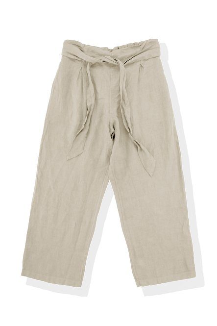 Over trousers in linen
