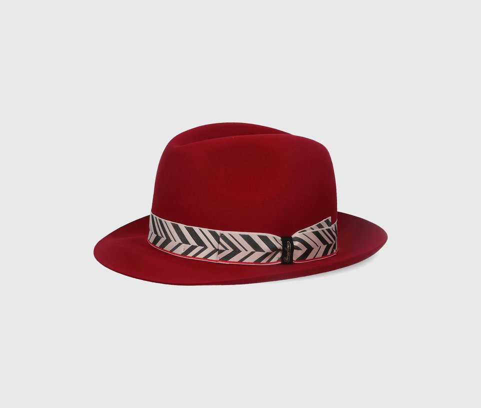 'Marengo' Medium-brimmed jacquard