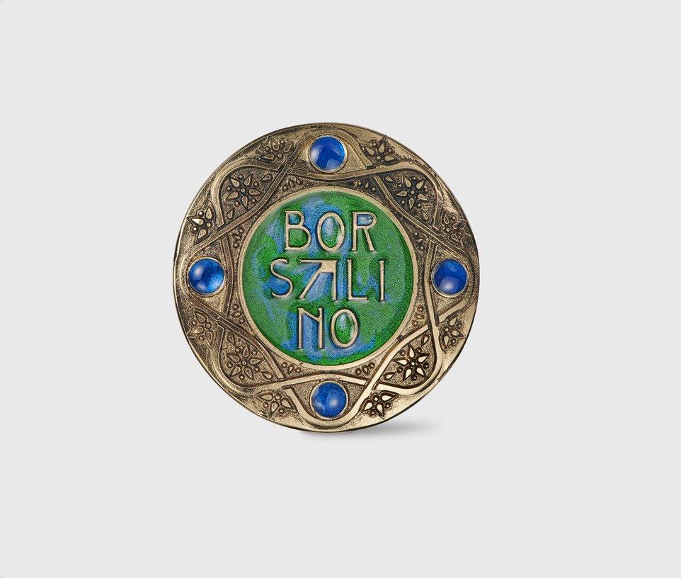 Borsalino logo brooch