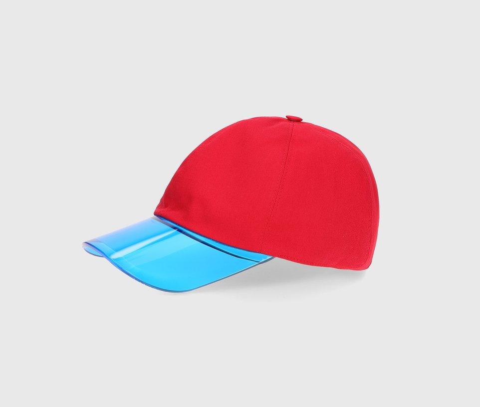 Baseball cap with P.V.C peak front