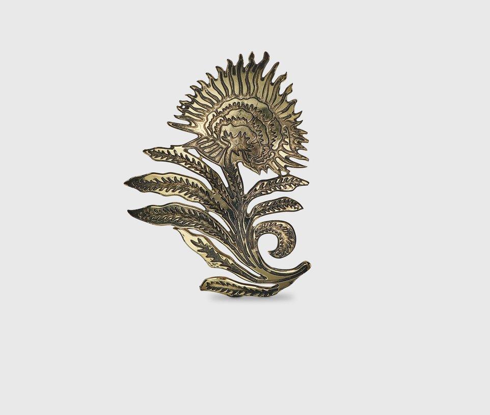 Thistle flower brooch