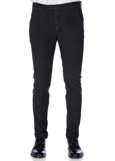 Velvet comfort slim fit slash pocket trousers