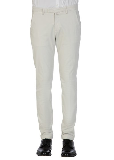 Satin slim fit slash pocket trousers - Grey-Blue