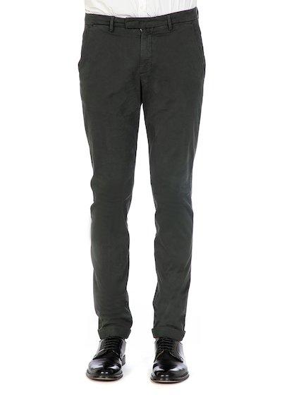 Pantalone tasca america slim fit con risvolto in raso comfort