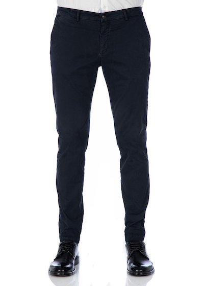 Pantalone tasca america costruzione casual slim fit in raso