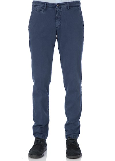 Bull comfort vintage effect slash pocket trousers - Blue Cobalt