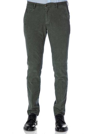 Pantalone tasca america con profilo in gabardine effetto vintage
