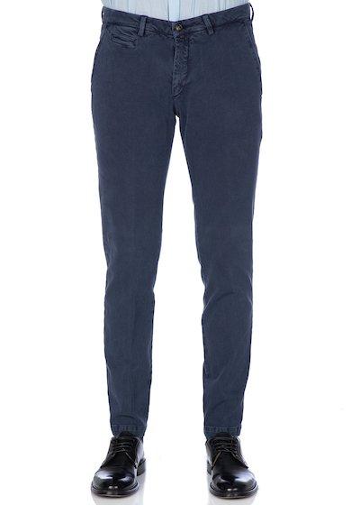 Vintage effect slash pocket trousers