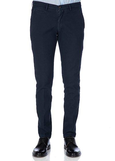 Pantalone tasca america con profilo armatura fondo nero