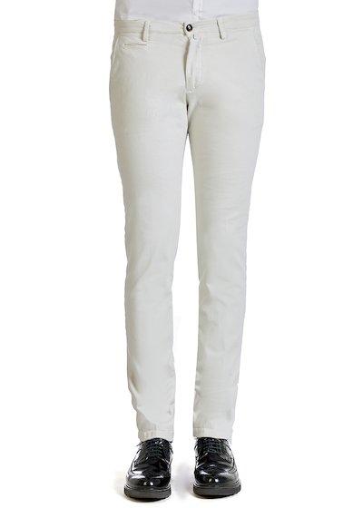 Pantalone tasca america con profilo in gabardine