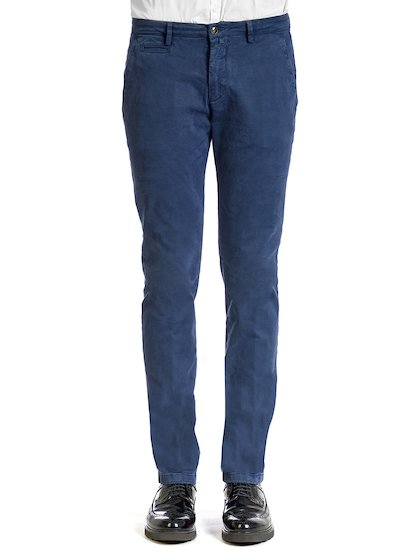 Gabardine comfort slash pocket trousers - Blue Cobalt