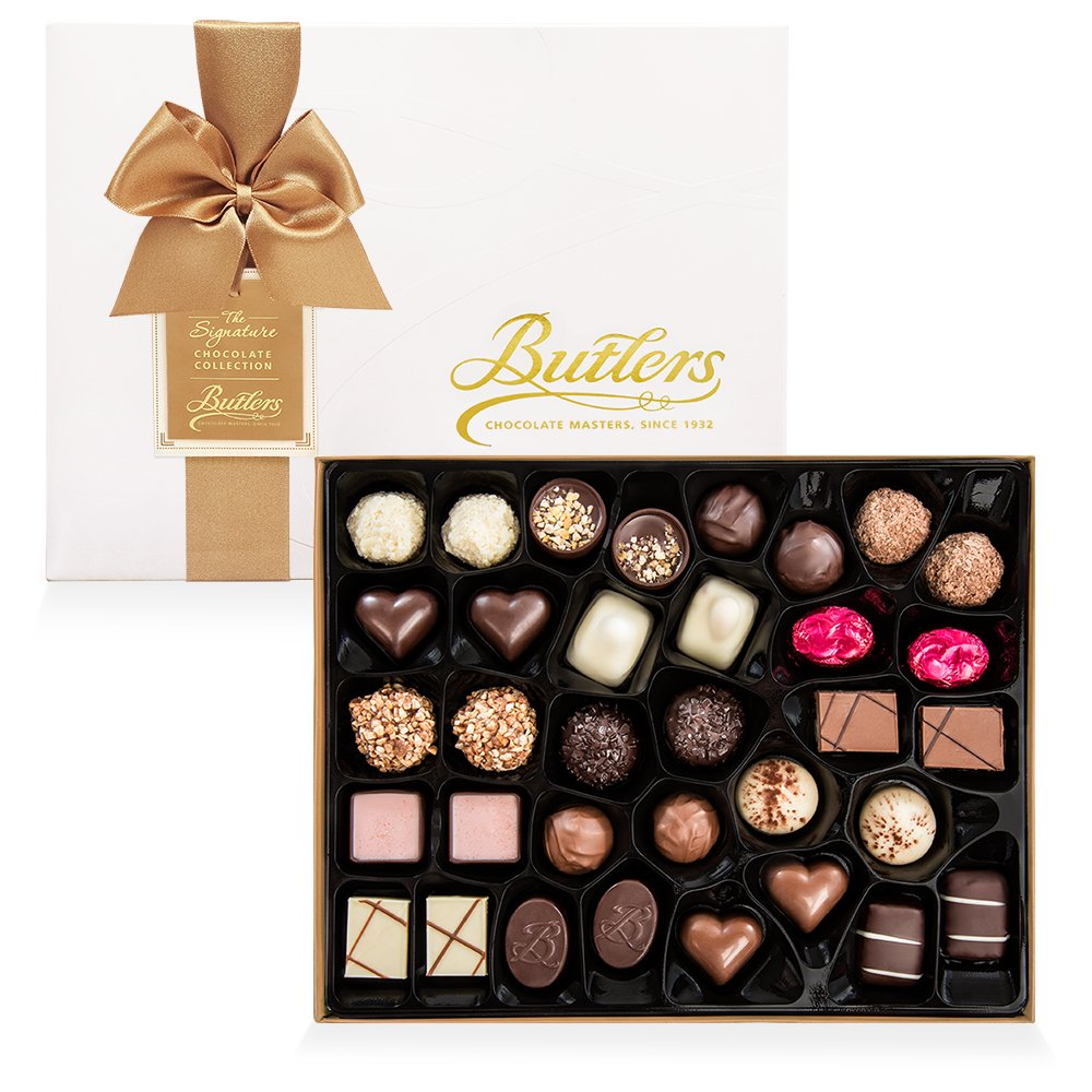 Large Embossed Signature Assortment, with 36 Chocolates