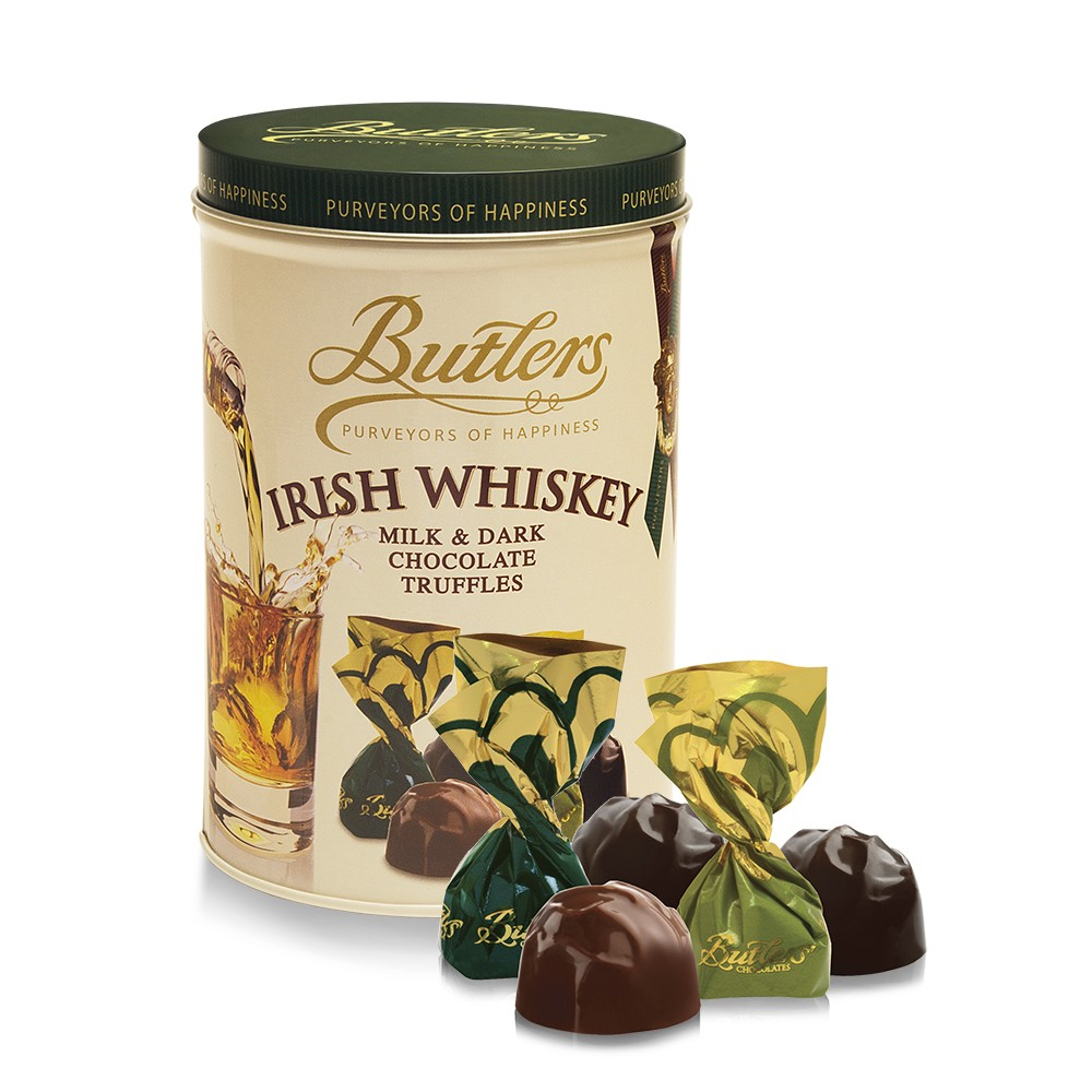 Irish Whiskey Tin, with 16 Irish Whiskey Truffles