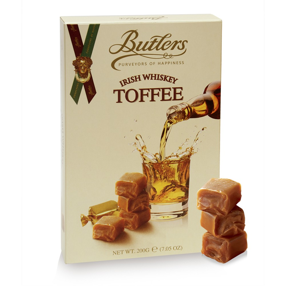Irish Whiskey Toffee Box, with 16 Pieces