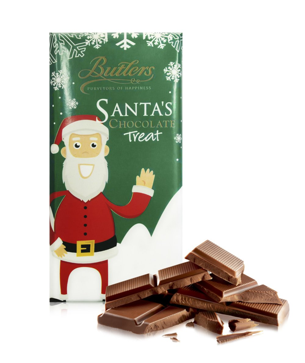 Butlers Milk Chocolate Santa's Treat Bar, Pack of 6 Bars