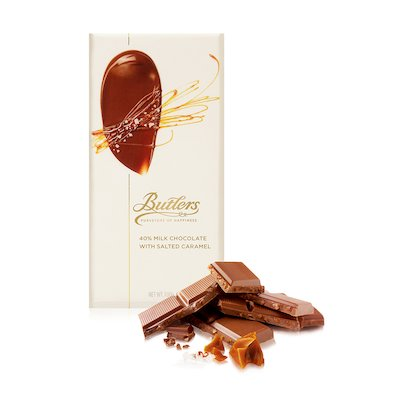 Large 40% Milk Chocolate Salted Caramel Bar, Pack of 6