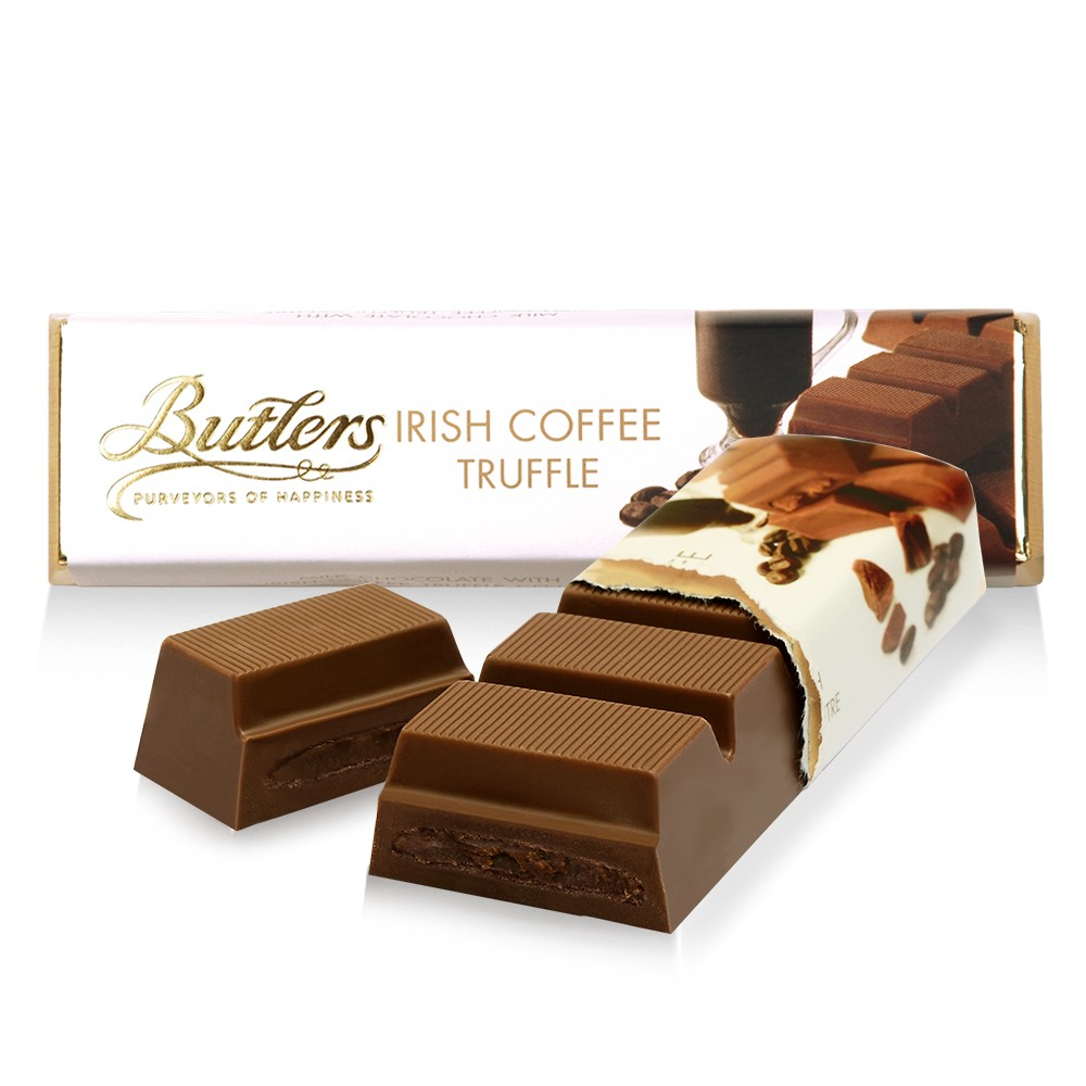 Butlers Milk Chocolate Irish Coffee Truffle Bar, Pack of 12 Bars