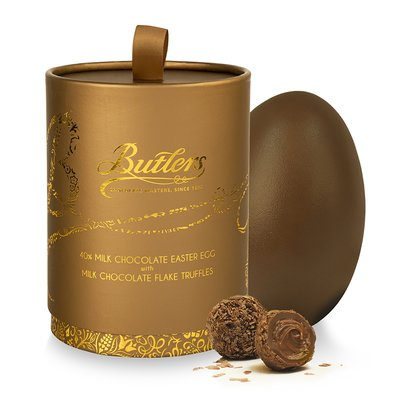 Milk Chocolate Egg with Milk Chocolate Flake Truffles