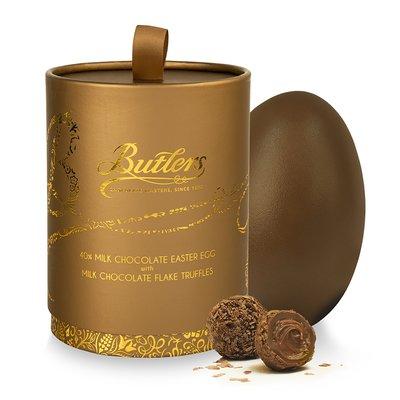 Milk Chocolate Easter Egg with Milk Chocolate Flake Truffles