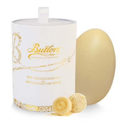 White Chocolate Easter Egg with White Chocolate Flake Truffles