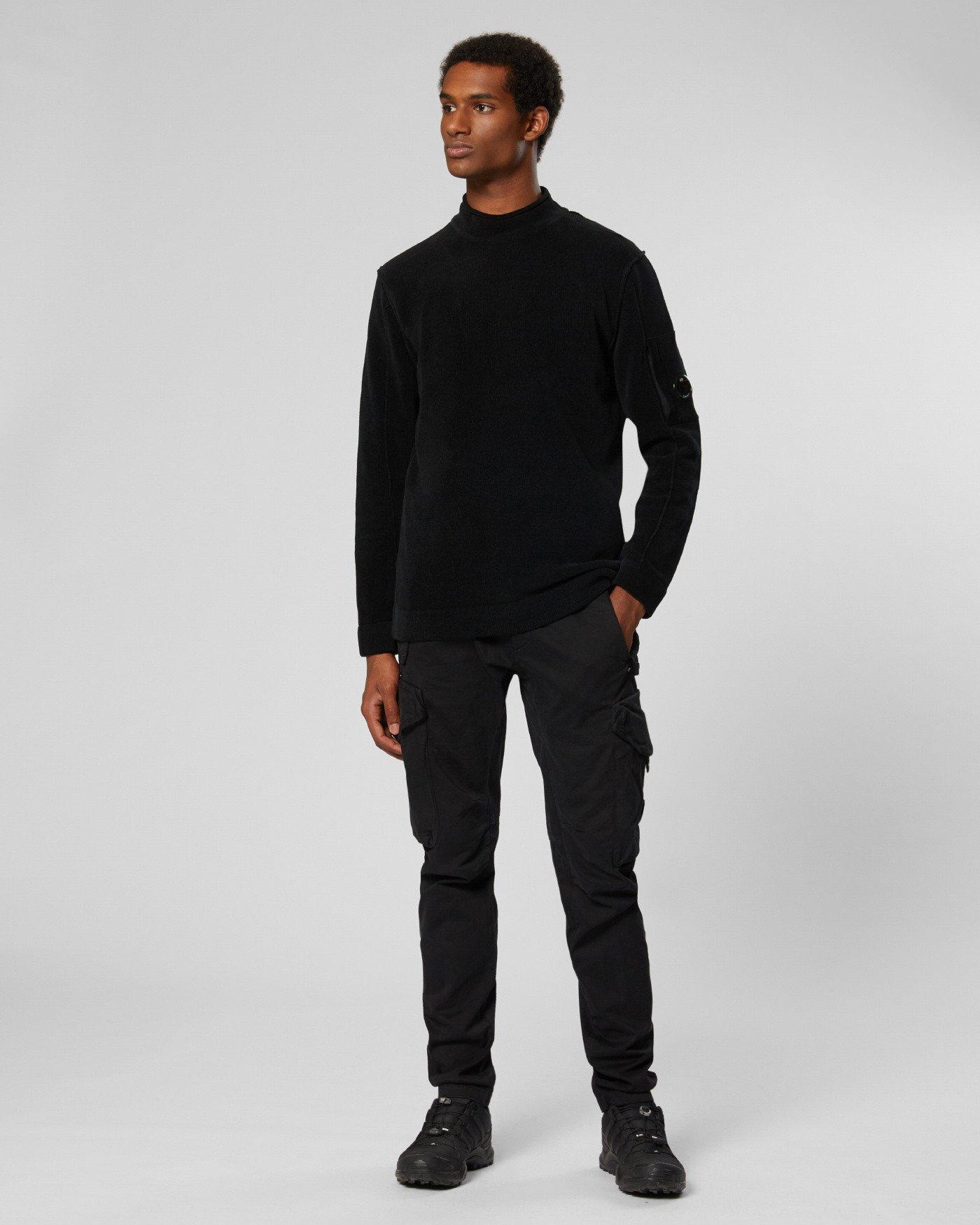 Chenille Cotton Mock Neck Sweater