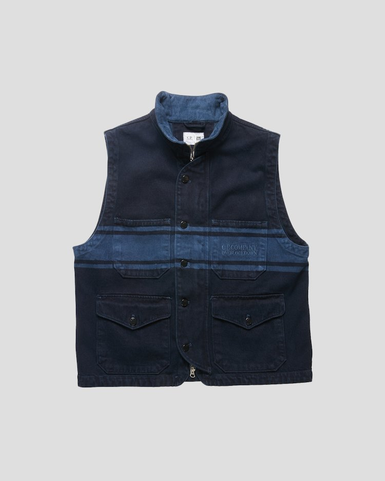 Denim 14 3/4 OZ Vest in Blue Denim