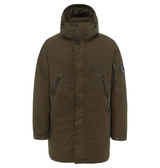 NyFoil Lens Fishtail Parka Long Jacket
