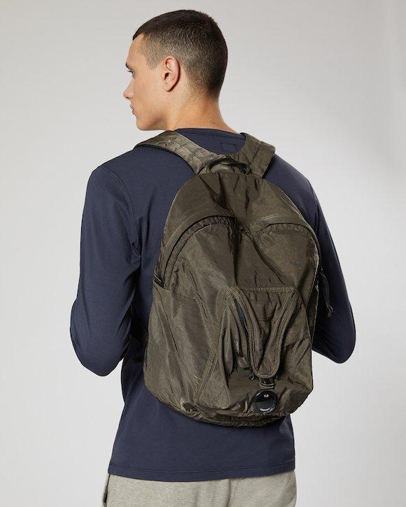 Garment Dyed Nylon Sateen Lens Backpack in Tarmac