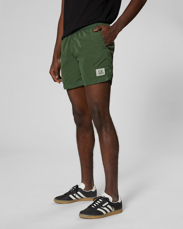 Chrome Swim Short in Light Green