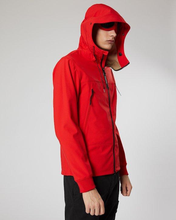 C.P. Shell Goggle Jacket in Poinciana