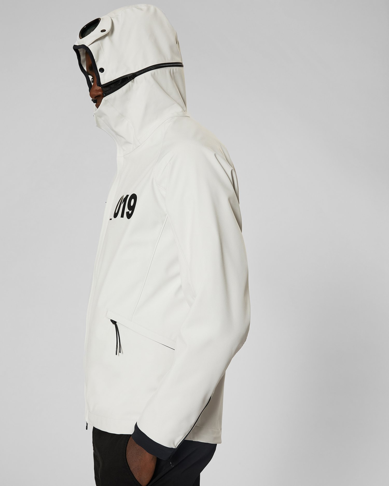 d45e542914 C.p. Shell Goggle Jacket In Gauze White