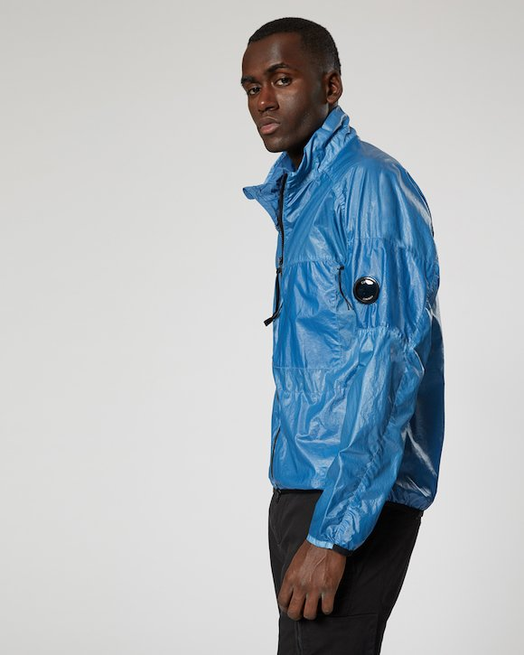 Cristal Lens Jacket in Faded Denim