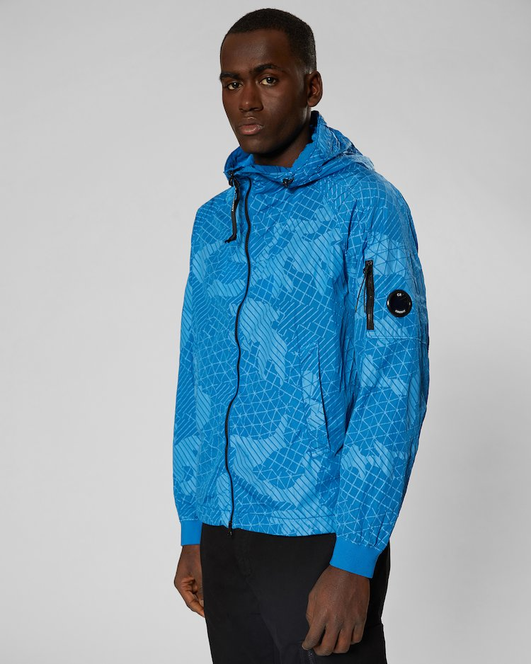 Camo Net Lens Jacket in Imperial Blue