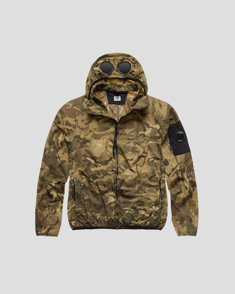 Re-Print Goggle Jacket in Kelp