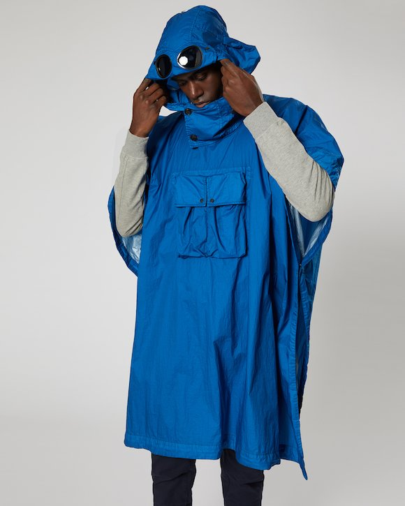NyFoil Goggle Poncho in Moroccan Blue