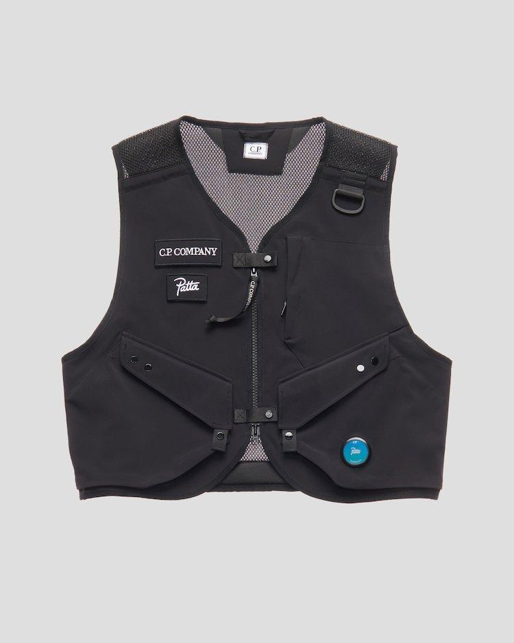 C.P. Shell / Mesh Utility Vest in Asphalt