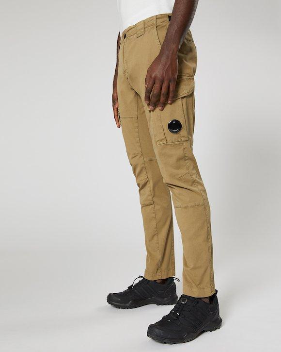 Re-colour Stretch Gabardine Cargo Lens Trouser in Kelp