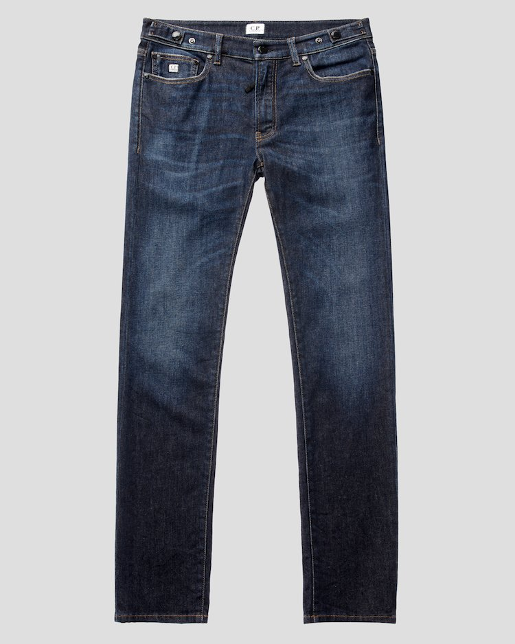 Denim Jeans in Stone Brushed