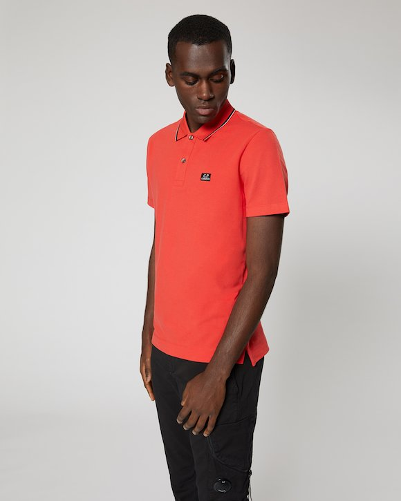 Stretch Piquet Polo Shirt in Poinciana