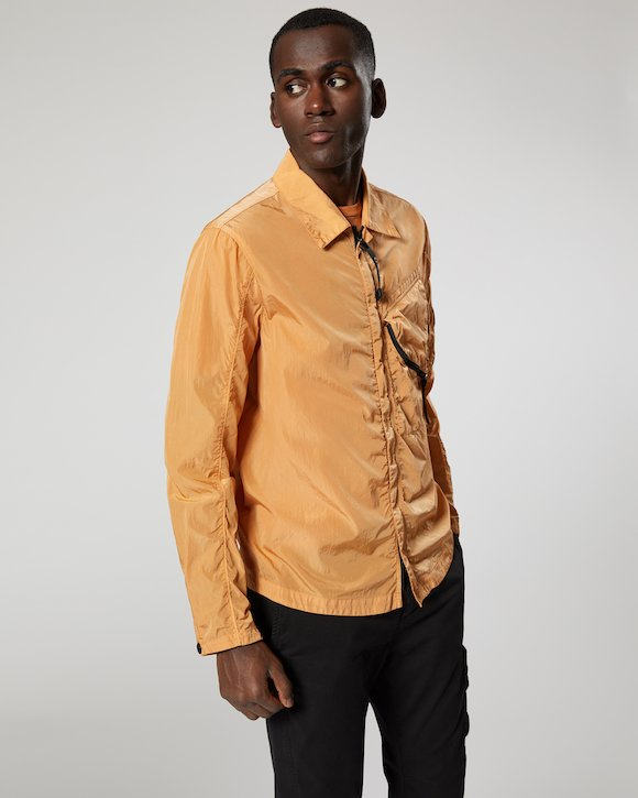 Chrome Lens Overshirt in Topaz