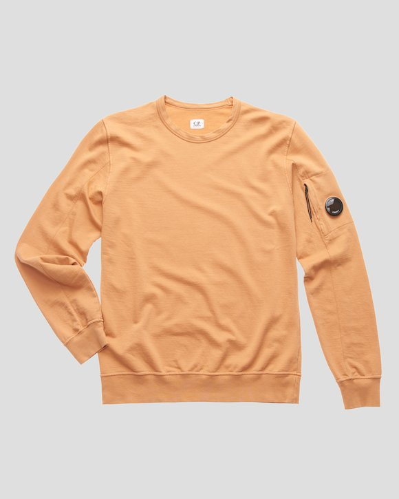 Garment Dyed Light Fleece Lens Crew Sweatshirt in Topaz