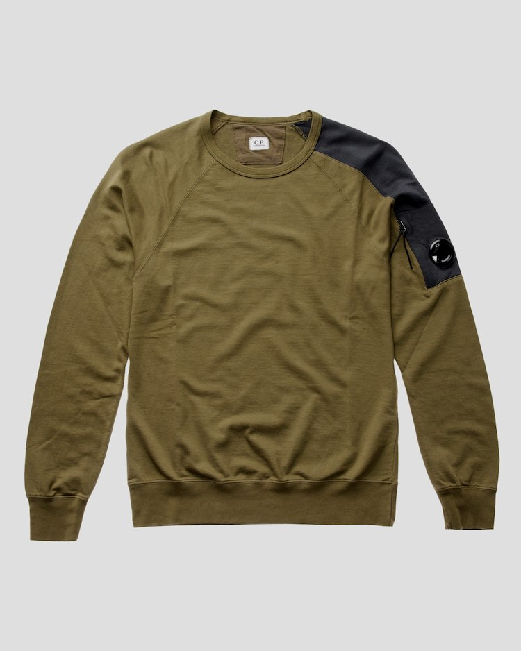 Light Fleece Crew Sweatshirt in Beech