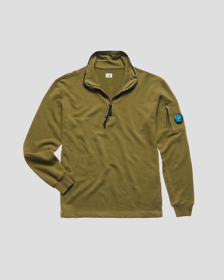 Light sweatshirt Half Zip Sweat in Martini Olive