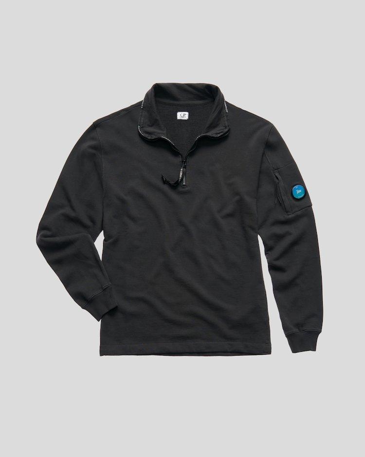 Light sweatshirt Half Zip Sweat in Black