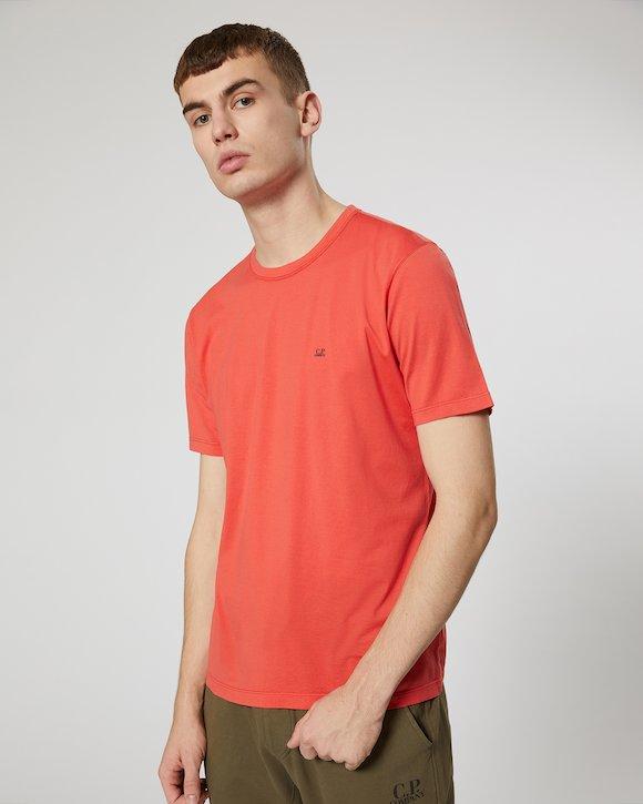 Garment Dyed Makò Jersey Crew T-Shirt in Beech